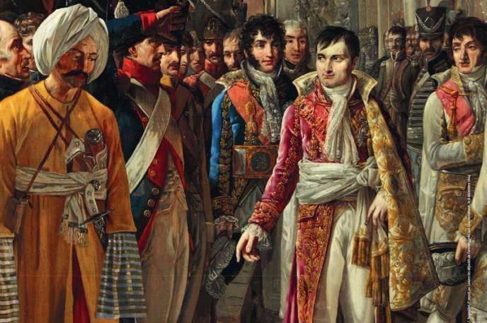 Affiche (détail) de l'exposition «La Maison de l'empereur, servir et magnifier Napoléon Ier» au château de Fontainebleau, jusqu'au 15 juillet 2019.