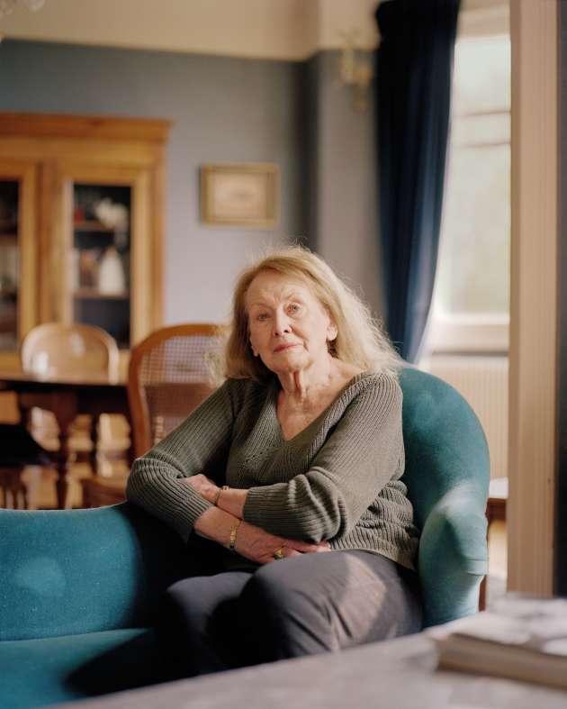 Annie Ernaux chez elle, à Cergy-Pontoise, le 12 avril.