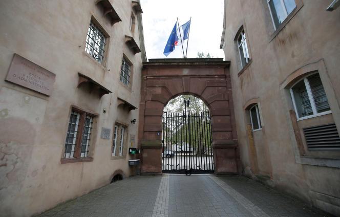 L'entrée de l'ENA, à Strasbourg, le 24 avril.