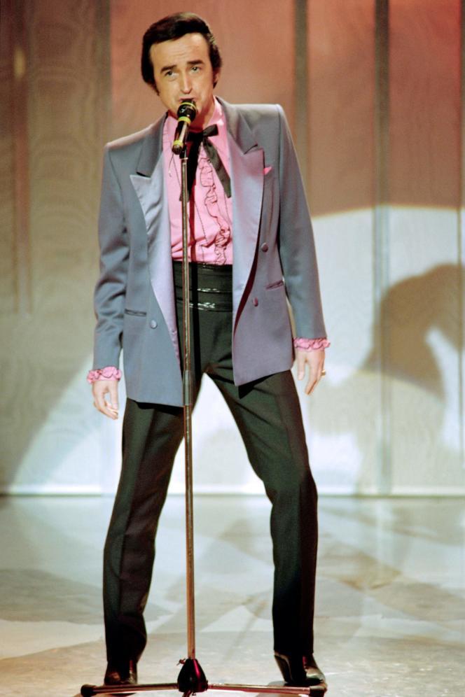 Dick Rivers en 1989 à la Maison de la Radio à Paris.