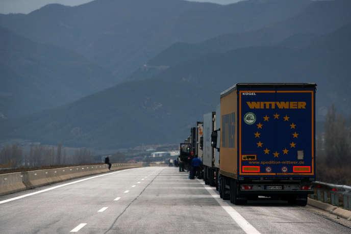 A la frontière entre la Grèce et la Bulgarie, en février 2018.