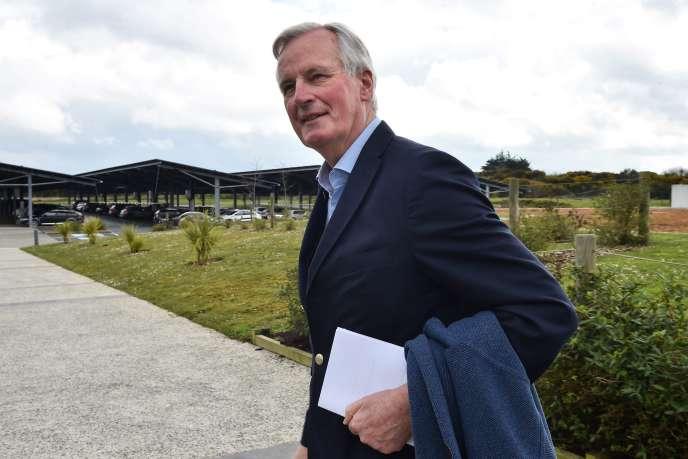 Michel Barnier, le 7 avril à Ploufragan (Côtes-d'Armor).