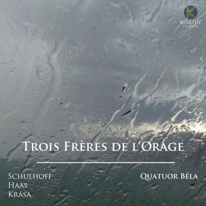 Pochette de l'album«Trois frères de l'orage», par le Quatuor Béla.