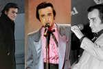 Le chanteur Dick Rivers, à différent moments de sa carrière.