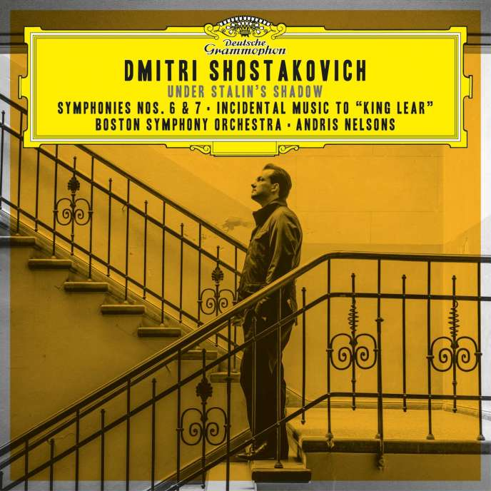 Pochette de l'album « Under Stalin's Shadow », compositions de Dmitri Chostakovitch, par le Boston Symphony Orchestra, Andris Nelsons (direction).