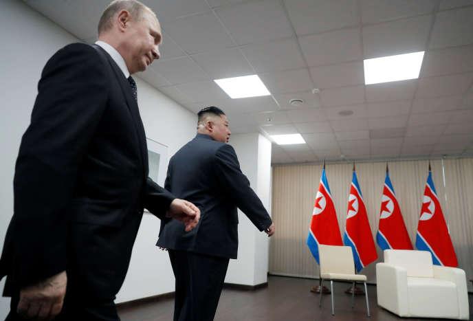Vladimir Poutine et Kim Jong-un à Vladivostok, le 25 avril.