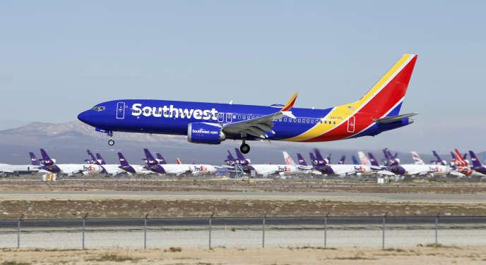 Un Boeing 737 Max de la compagnie Southwest Airlines, le 23mars2019 à Victorville, en Californie, avant que les modèles soient interdits de vol.