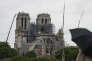 La cathédrale Notre-Dame de Paris quelques jours après l'incendie, le 25 avril.