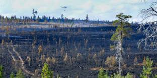 Un feu de forêt près de Sarna, dans le centre de la Suède en juillet 2018.