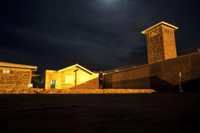 La prison de Robben Island, située au large du Cap, où Nelson Mandela fut incarcéré pendant dix-huit ans. Ici, en décembre 2013.