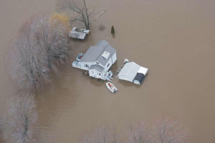 Les inondations dans le Nouveau-Brunswick, au Canada, le 24 avril.