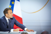 Emmanuel Macron, à l'Elysée, à Paris, jeudi 25 avril.
