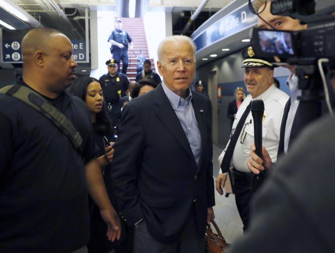 Joe Biden, jeudi 25 avril, à Wilmington, dans le Delaware.