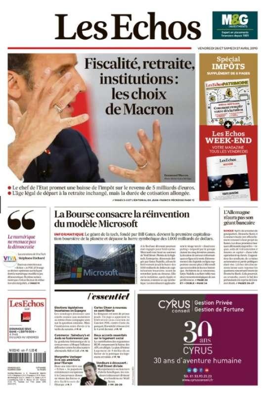 """Fini «le président des riches», adieu le chef d'une tribu de «Gaulois réfractaires». Lorsqu'il célèbre «l'art d'être français», Emmanuel Macron flatte au contraire cette fierté du drapeau qui sommeille en chacun de nous. Mais il se place surtout à la hauteur de l'enjeu du moment : dépasser la simple réponse à des """"gilets jaunes"""" en furie pour proposer à tous les Français un projet commun», dit Jean-Francis Pécresse, éditorialiste aux «Echos»."""