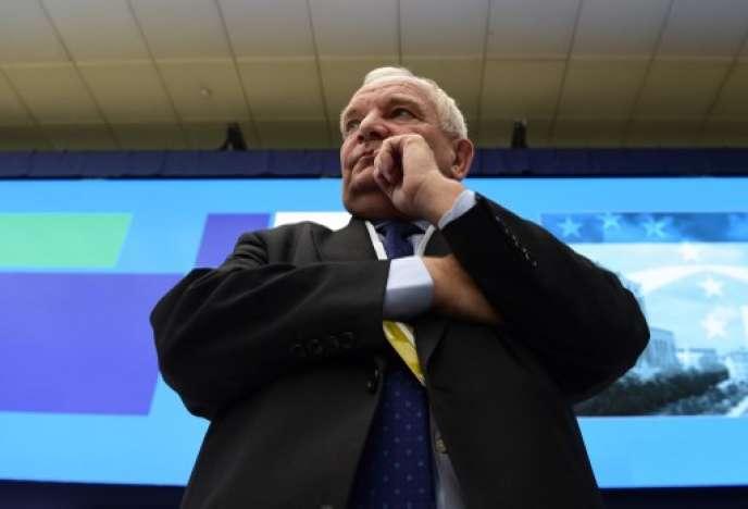 Joseph Daul, président du Parti populaire européen (PPE), durant un congrès du parti à Madrid, le 22 octobre 2015.