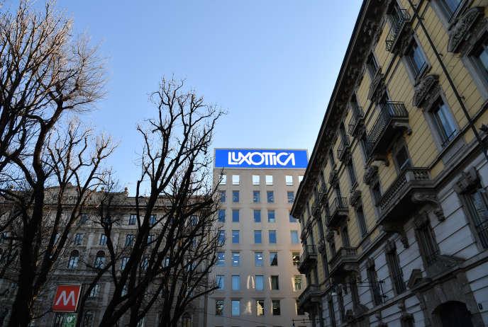 Le siège de Luxottica, à Milan, en janvier 2017.