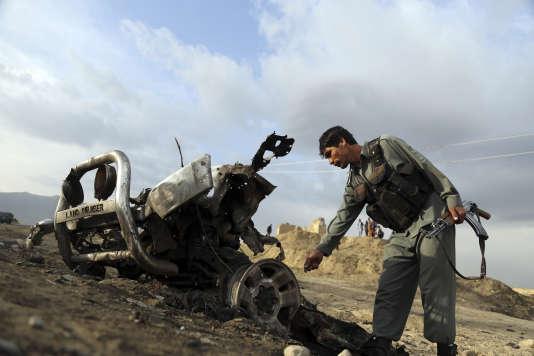 Après une attaque des talibans contre labase aérienne de Bagram, le 9 avril.