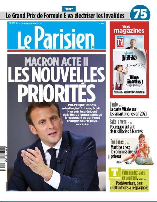 """« Ce que l'on attend d'un chef d'Etat, c'est un cap. Après des mois de tumultes et de grand débat, le président de la République a repris la main », écrit Jean-Baptiste Isaac dans «Le Parisien». « Il a réaffirmé """"une nouvelle ambition"""" : """"créer l'art d'être français"""". Une vision nécessaire tant le pays paraît morcelé. »"""
