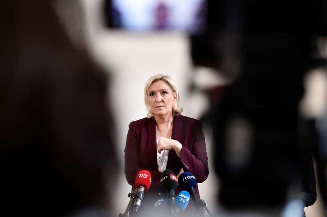 Marine Le Pen à Copenhague, le 26 avril.