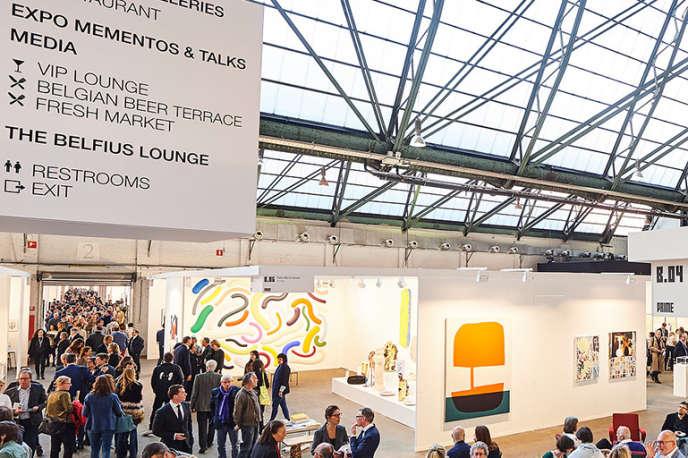 Vue d'ensemble de la foire Art Brussels en Belgique, qui se tient du 25 au 28 avril 2019.