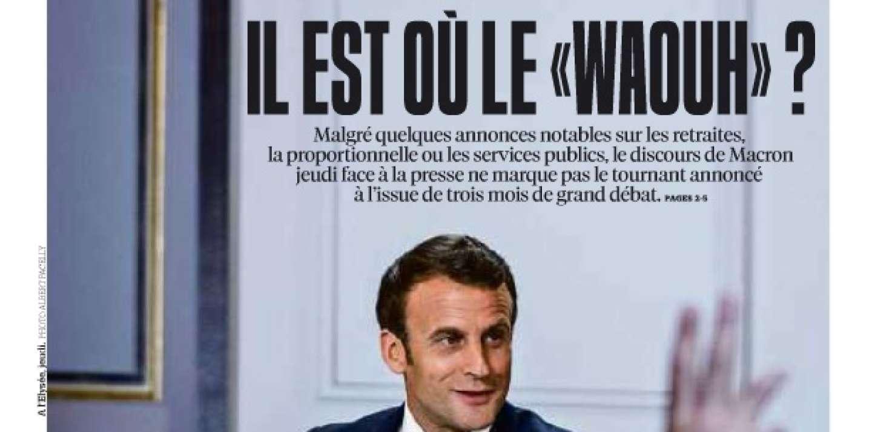Annonces de Macron : ce que dit la presse française