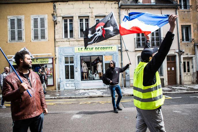Acte XXIV de la mobilisation des « gilets jaunes» à Dijon, le 27 avril.