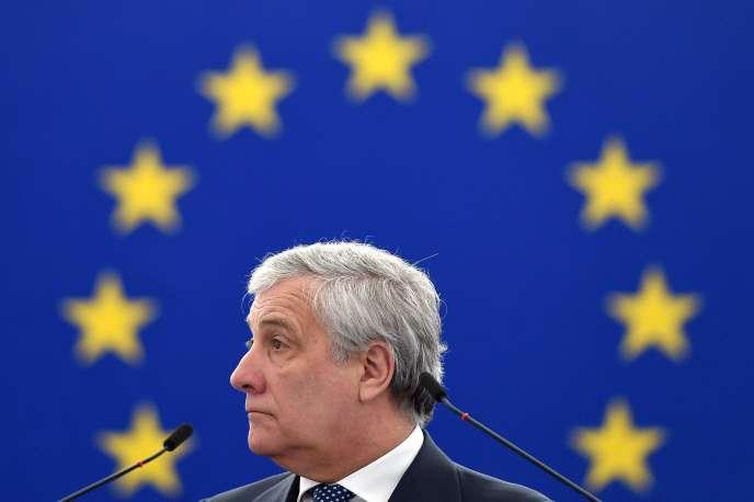 Antonio Tajani, président du Parlement européen, en Roumanie, en janvier 2019.