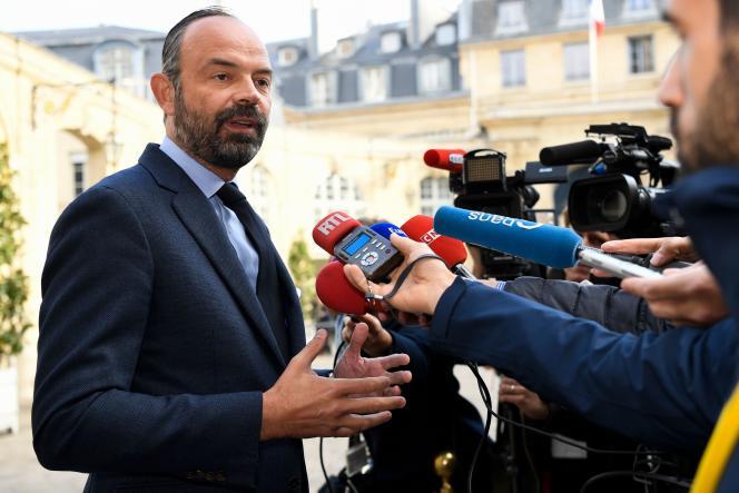 Le premier ministre, Edouard Philippe, à Matignon, le 29 avril.