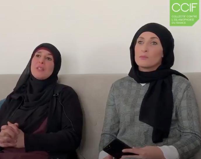 Les deux femmes qui ont filmé la scène témoignent dans une vidéo du Collectif contre l'islamophobie.
