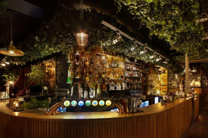 Le bar à cocktails Nedre Lokka.