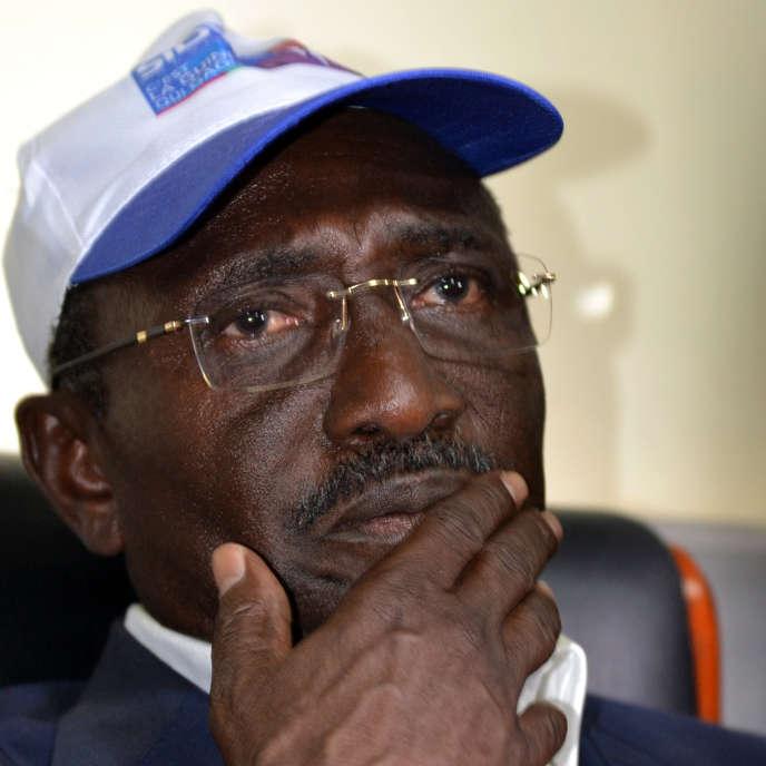 L'opposant guinéen Sidya Touré lors d'un meeting de campagne présidentielle, à Conakry, le 7octobre 2015.