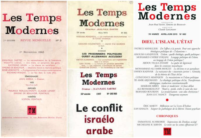 La revue« Les Temps modernes» a été fondée par Jean-Paul Sartre, elle a été publiée pour la première fois en octobre 1945.