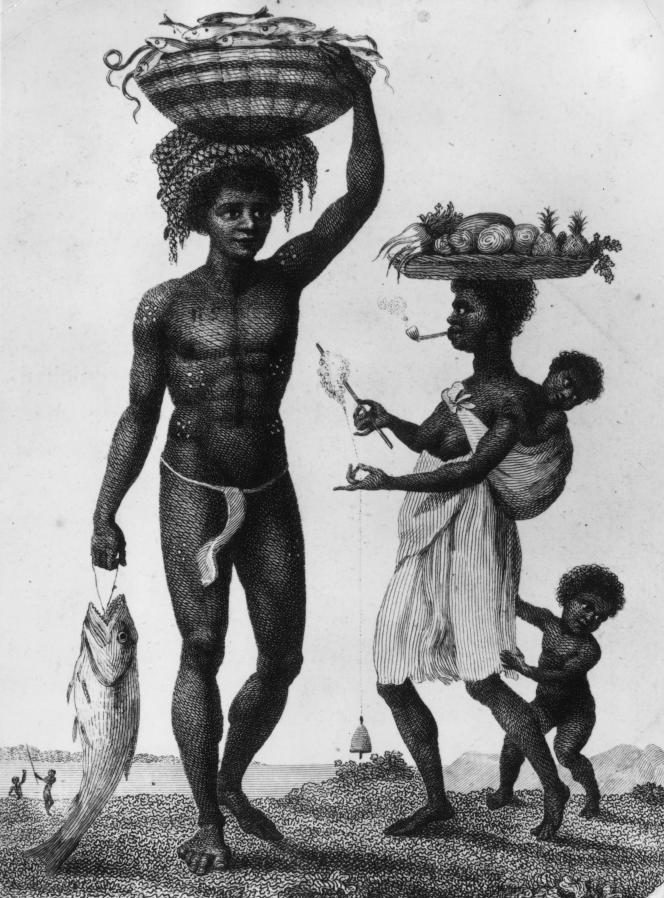Une famille d'esclaves de Luanda, Angola, au XVIIIe siècle.