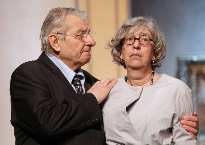 Anémone, le 18 avril 2011, dans la pièce «Grossesses nerveuses», de Jean-Yves Rogale, mise en scène par Philippe Hersen.