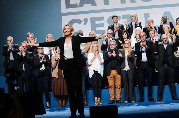 Au banquet patriotique du Rassemblement national (ex-FN), le 1er mai à Metz.