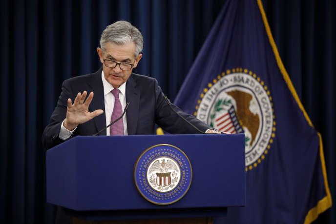 Le 20 mars, Jerome Powell, président de la Réserve fédérale des Etats-Unis (Fed), manifestait son inquiétude face à la rechute de l'inflation observée depuis le début de l'année aux Etats-Unis (Photo: Jerome Powell le 1er mai à Washington).