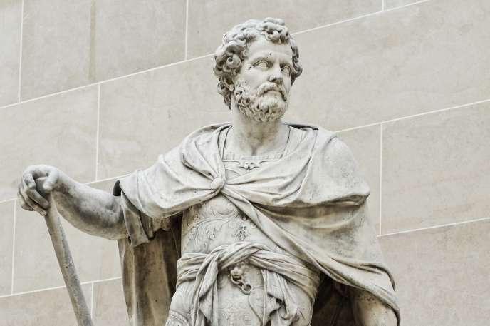 Statue en marbre d'Hannibal par Sébastien Slodtz (1704).