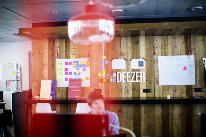 Les bureaux de Deezer, à Paris, en avril 2018.