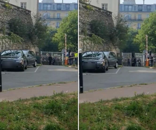 Ces images tournées par un employé de l'hôpital à l'intérieur de l'enceinte montrent clairement des manifestants escalader la grille puis en briser les chaînes afin de l'ouvrir.