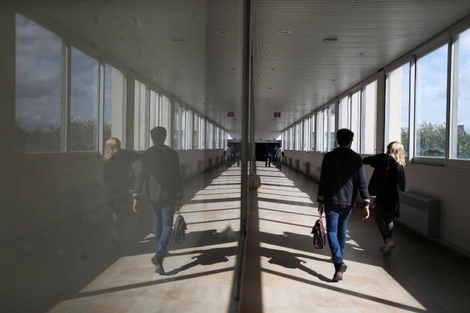 Dans les couloirs de l'université de Caen (Calvados), en 2015.