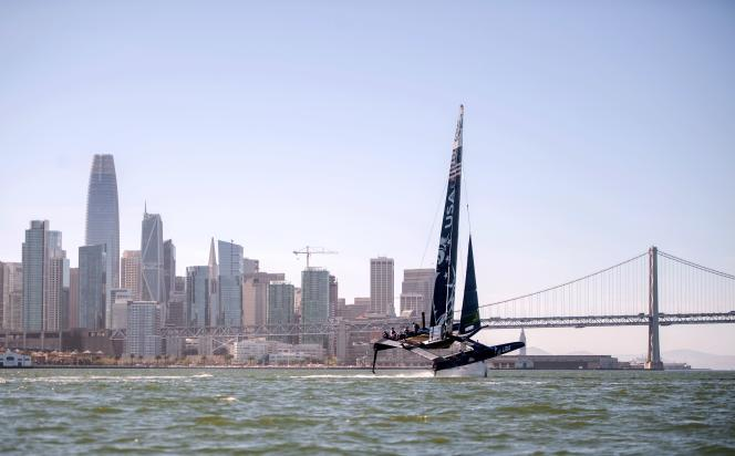 L'équipe américaine, dans la baie de San Francisco, le 22 avril.