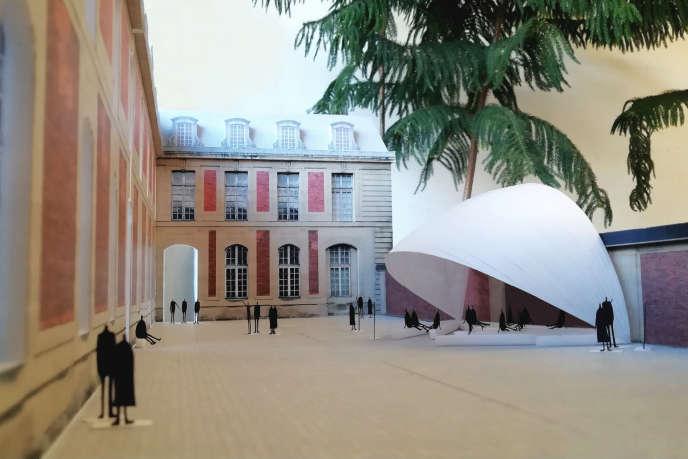 Classe d'été, un pavillon imaginé par Go Hasegawa, visible dans l'exposition« Augures».