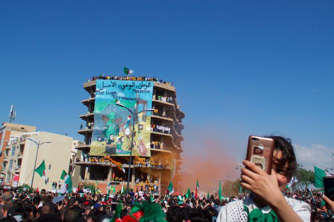 Manifestation à Bordj Bou Arerridj, en Algérie, le 26avril 2019.