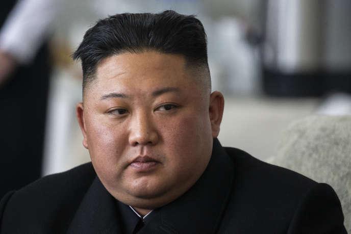 Kim Jong-un, le dirigeant nord-coréen, le 24 avril, à Khasan, en Russie.