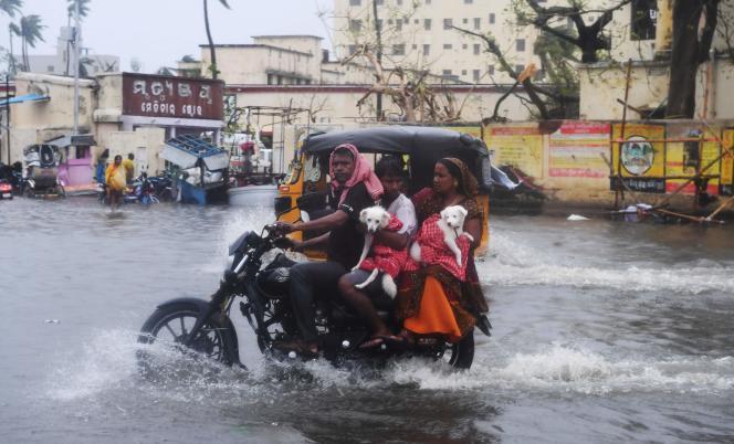 A Puri, dans l'Etat indien de l'Odisha, après le passage du cyclone Fani, le 3 mai.