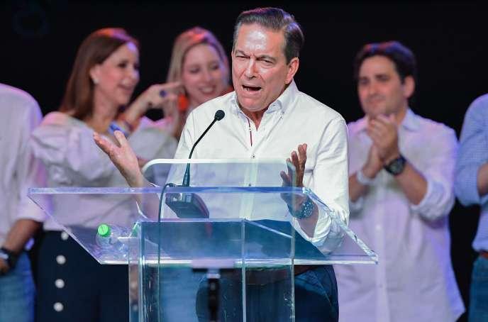 Laurentino « Nito » Cortizo s'adresse à ses partisans, le 5 mai 2019, à Panama City.