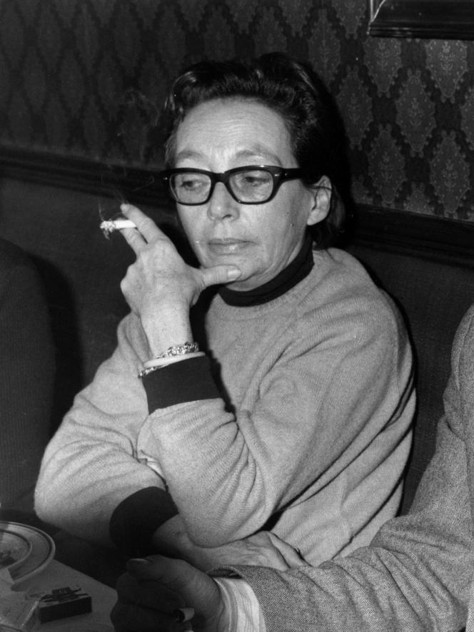 Marguerite Duras en janvier 1967.