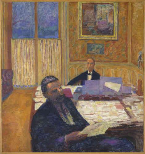 «En 1906, Félix Fénéon rejoint la galerie de Gaston et Josse Bernheim en tant que directeur artistique. Il y exerce ses fonctions jusqu'en 1924. Son action s'étend de la défense des artistes disparus‒ comme Seurat ou Van Gogh‒ à la promotion des peintres d'avant-garde‒ comme Matisse ou Modigliani. Il organise, en 1912, dans la galerie la première exposition des futuristes italiens qui fit scandale.»