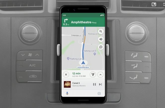 La musique s'affiche désormais en dessous de la carte de Google Maps.