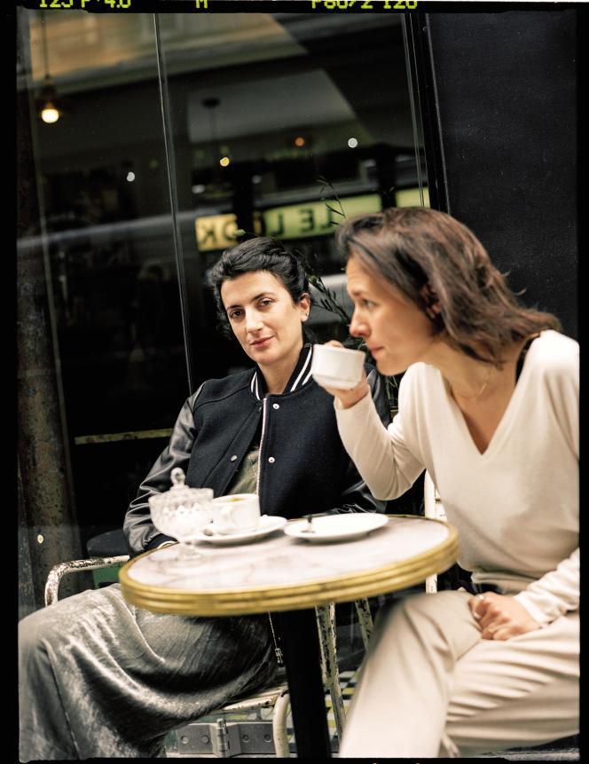 Judith Lou Lévy et Eve Robin, en mai 2019, à Paris.